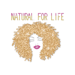 ISS Gold Hair Afro Girl Rhinestone Decal