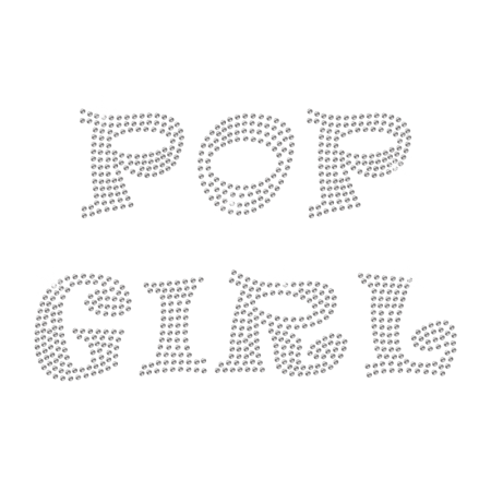 Rhinestone Pop Girl Hot-fix Design