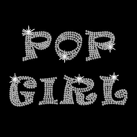 Rhinestone Pop Girl Hot-fix Design