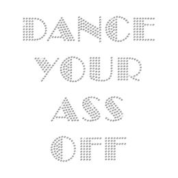 Glamorous Crystal Dance Letters Rhinestone Transfer