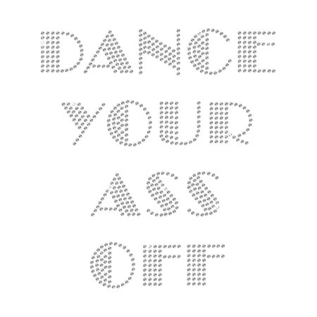 Glamorous Crystal Dance Letters Rhinestone Transfer