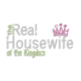 Beautiful Kingdom Housewife Iron-on Rhinestone Transfer