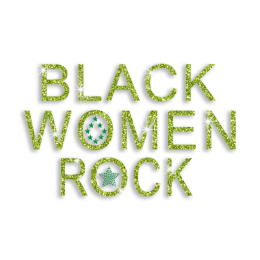 Cheering Black Women Rock Iron-on Glitter Rhinestone Transfer