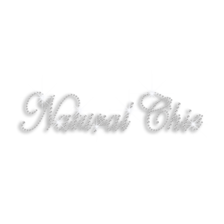 Crystal Natural Chic Iron-on Rhinestone Transfer