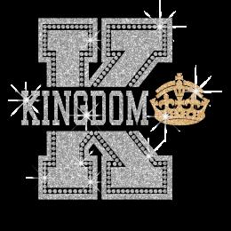 Shimmery Kingdom Crown Iron-on Rhinestone Transfer