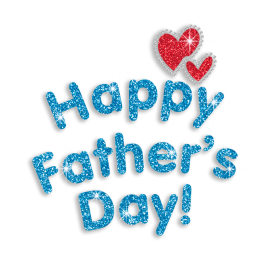 Teal Happy Father\'s Day Iron-on Glitter Rhinestone Transfer