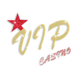 Bling Bling VIP Casino Iron-on Glitter Rhinestone Transfer