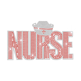 Blingy Cool Nurse & Hat Hot Fix Rhinestone Transfer