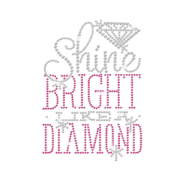Shine Bright Diamond Hotfix Rhinestone Transfer