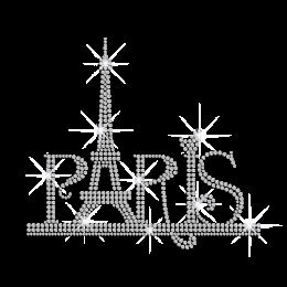 Famous Paris Eiffel Tower Iron-on Rhinestone Transfer