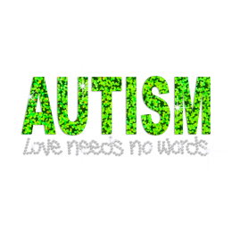 Shiny Autism Love Needs No Words Rhinestone Holofoil Iron On
