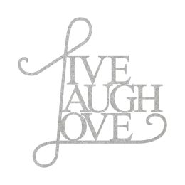 Custom Letter Live Laugh and Love Heat Transfer