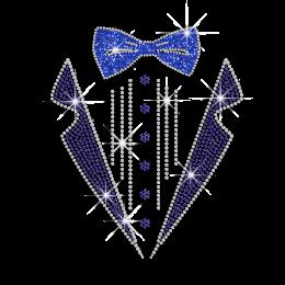 Vegas Show Formal Manswear Decoration Glitter Nailhead Iron on Transfer