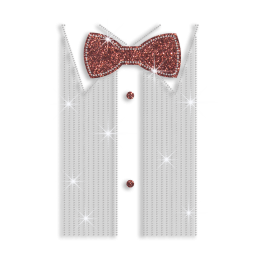 Magic Show Formal Man's Shirt Decoration Nailhead Glitter Iron-on Transfer
