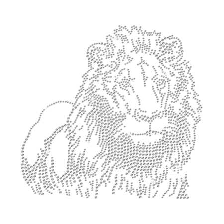 Impressive Crystal Lion Rhinestone Iron ons