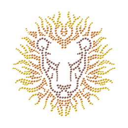 Elegant Lion Hotfix Rhinestone Motif