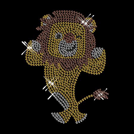 Rhinestone Cute Lion Iron on Transfer Pattern