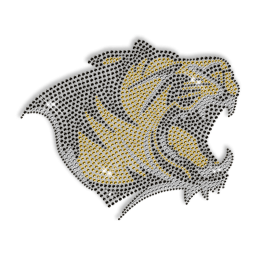 Hot Fix Colorful Rhinestone Lion Head Design