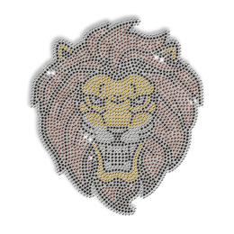 Rhinestone Hot Fix Lion Head Transfer
