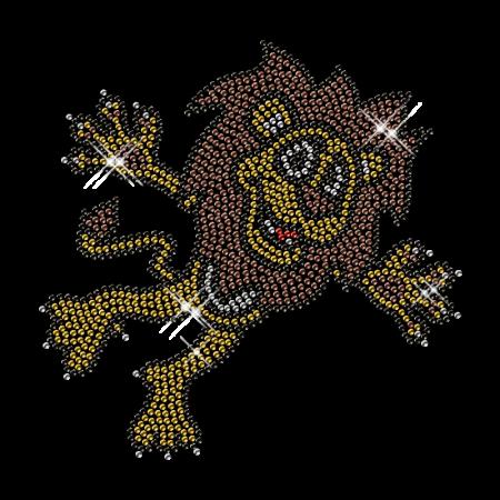Cute Rhinestone Lion Iron on Transfer Design