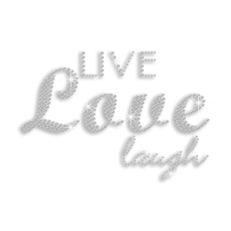 Bling Bling Live Love Laugh Hotfix Rhinestone Transfer