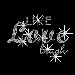 Bling Bling Live Love Laugh Hotfix Rhinestone Transfer