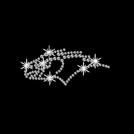 Crystal Falcon Rhinestone Iron ons Pattern
