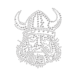 Transfer Crystal Viking Iron on Design