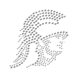 Bling Diamante Trojan Soldier Rhinestone Motif
