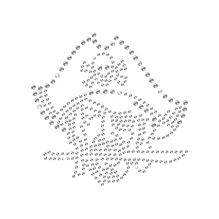 Crystal Iron on Pirate Rhinestone Design