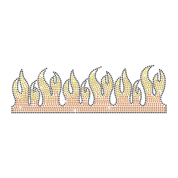 Rhinestone Flames Hotfix Transfer