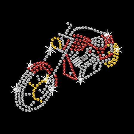 Rhinestone Fashion Motorcycle Iron On Transfer