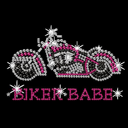 Rhinestone Crystal Pink Motorcycle image
