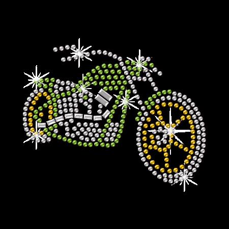 Bright Rhinestone Falcon Motorcycle Iron On Transfer
