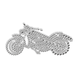 Pure Crystal Rhinestone Moto Iron on Motif for Clothe