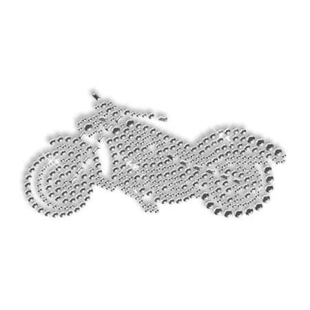 Pure Crystal Rhinestone Moto Iron on Motif for Clothe
