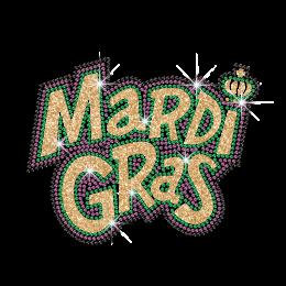 Custom Bling Transfer Design Mardi Gras Mask
