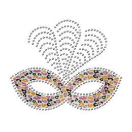 Creative Feather Mask Iron-on Glitter Rhinestone Transfer