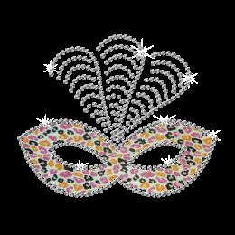Creative Feather Mask Iron-on Glitter Rhinestone Transfer