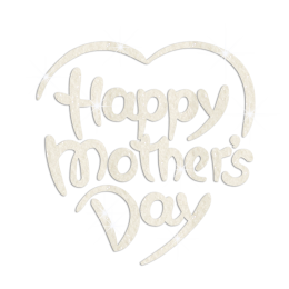 Glittering White Happy Mother's Day Iron on Rhinestone Transfer Decal