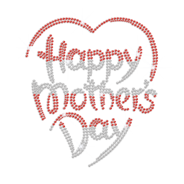 Happy Mother's Day Iron on Rhinestone Transfer Decal