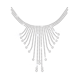 Bling Hot-fix Crystal Necklace Rhinestone Pattern