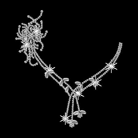 Beautiful Clear Necklace Hot-fix Rhinestone Design