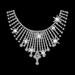 Rhinestone Blingbling Necklace Hot-fix Design