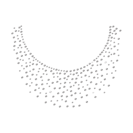 Iron on Simple Necklace Rhinestone Design