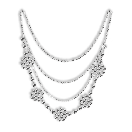 Sparkling Crystal Rhinestone Necklace Iron on Bling for Clothes