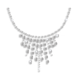 Silver Necklace Rhinestone Nailhead Iron on Transfer
