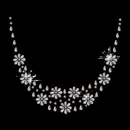 Crystal Necklace Iron on Rhinestone Nailhead Transfer