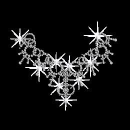 Crystal Charming Necklace Heat Press Rhinestone Transfer
