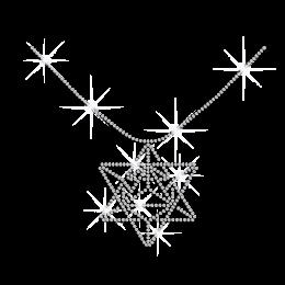 Crystal Diamond Necklace Iron-on Rhinestone Transfer